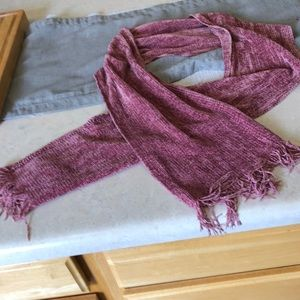 """churchill handwoven Accessories - 60"""" beautiful pink chenille scarf"""